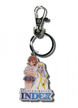 A Certain Magical Index Key Chain - Index & Misaka Mikoto
