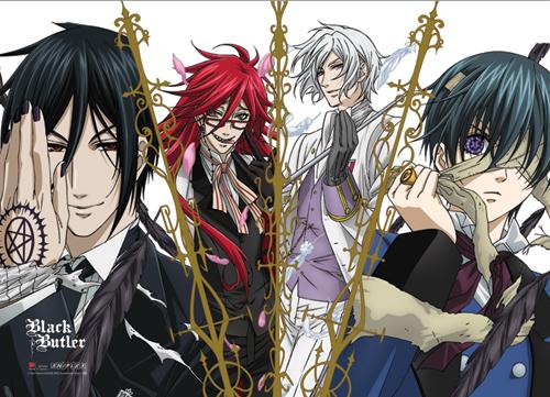 Angel Of Death Anime Ep 1 Vostfr Black Butler Wall Scroll Sebastian Grell Ash Ciel