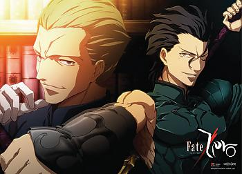 Fate/Zero Wall Scroll - Lancer & Kayneth [LONG]