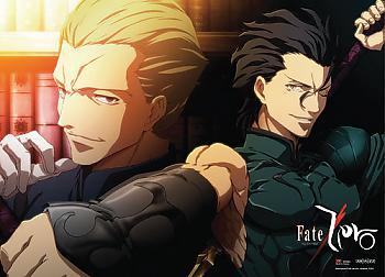 Fate/Zero Wall Scroll - Lancer & Kayneth [LONG]