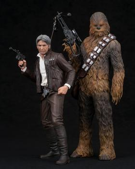 Star Wars: Force Awakens ArtFX+ 1/10 Scale Figures - Han Solo & Chewbacca (Set of 2)