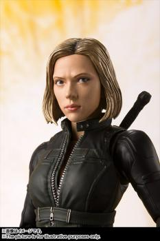 Avengers Infinity War S.H.Figuarts Action Figure - Black Widow & Tamashii Effect Explosion