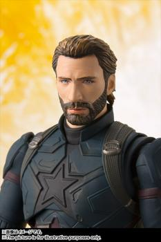 Avengers Infinity War S.H.Figuarts Action Figure - Captain America & Tamashii Effect Explosion