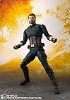 Avengers Infinity War S.H.Figuarts Action Figure - Captain America & Tamashii Effect Explosion