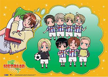 Hetalia Wall Scroll - Football Team [LONG]