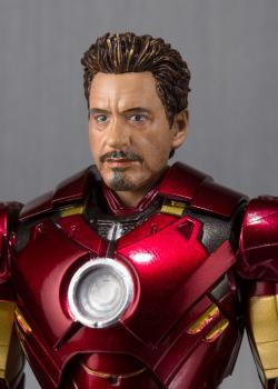 Iron Man 2 S.H.Figuarts Action Figure - Iron Man Mark IV and Hall Of Armor Set
