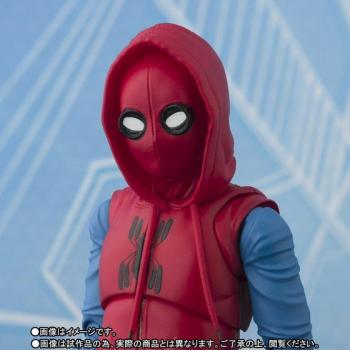 Spiderman Homecoming S.H.Figuarts Action Figure - Spiderman Home Made Suit & Option Act Wall
