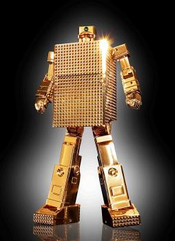 Gold Lightan Soul Of Chogokin Action Figure - GX-32R 24-Karat Gold Plating Ver