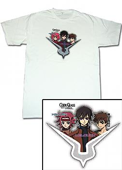 Code Geass T-Shirt - Kallen, Lelouch and Suzaku (XL)