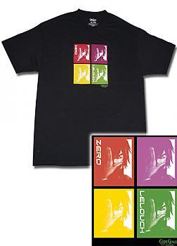 Code Geass T-Shirt - LeLouch/Zero Color Panels (XL)