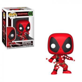 Deadpool POP! Vinyl Figure - Deadpool w/ Candy Canes (Marvel Holiday)