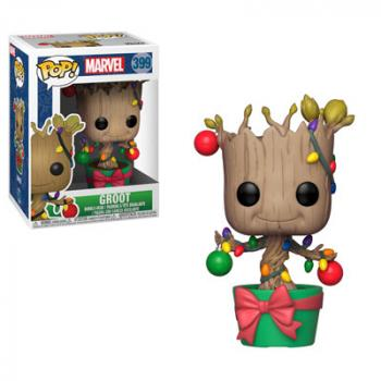 Guardians of the Galaxy POP! Vinyl Figure - Groot w/ Lights & Ornaments (Marvel Holiday)