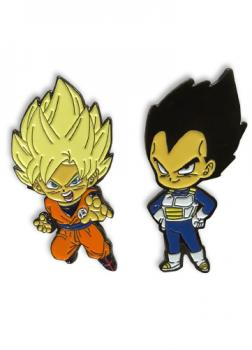 Dragon Ball Super Pins - SS Goku & Vegeta (Set of 2)