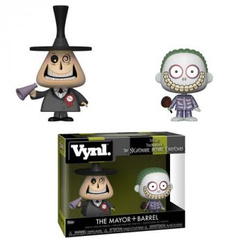 Nightmare Before Christmas Vynl. Figure - Mayor & Barrel (2-Pack)
