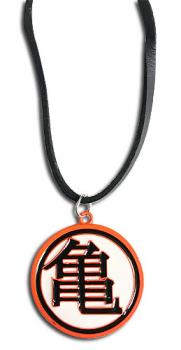 Dragon Ball Z Necklace - Orange Turtle Kanji