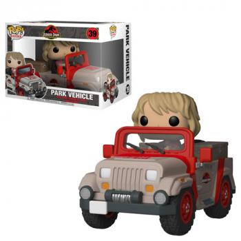 Jurassic Park POP! Rides Vinyl Figure - Ellie Sattler In Jeep