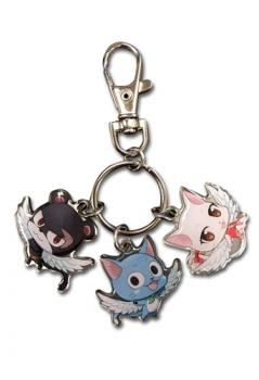 Fairy Tail Key Chain - Exceed Metal Pantherlily Happy Clara