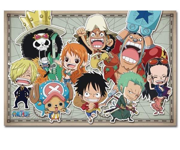 One Piece Puzzle - SD New World Straw Hat Pirates (Glow in ...