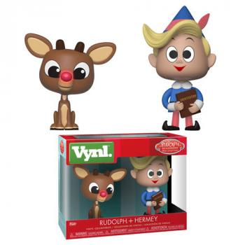 Rudolph the Red-Nosed Reindeer Vynl. Figure - Rudolph & Hermey (2-Pack)