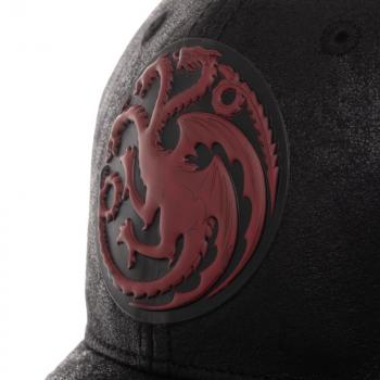 Game of Thrones Cap - House Targaryen Red PU Distressed