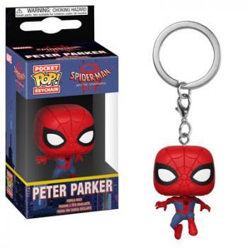 Spiderman Into the Spider Verse Pocket POP! Key Chain - Peter Parker