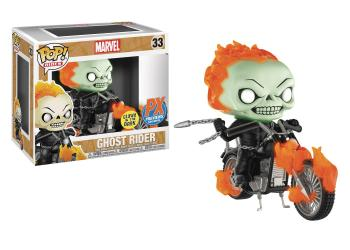 Ghost Rider POP! Rides Vinyl Figure - Ghost Rider & Motorcycle (Glow in the Dark) (PX Exclusive) (Marvel)