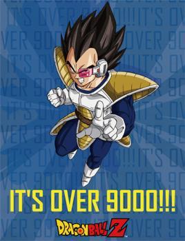 Dragon Ball Z Blanket - It's Over 9000! Vegeta