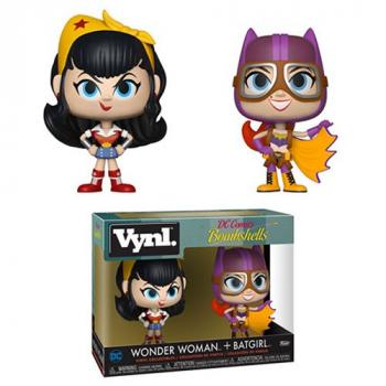 DC Comics Bombshells Vynl. Figure - Wonder Woman & Batgirl (2-Pack)