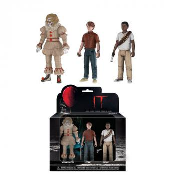 Stephen King's It Action Figure - Pennywise, Stan and Mike (Set of 3)