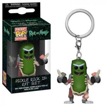 Rick and Morty Pocket POP! Key Chain - Pickle Rick Rat Suit