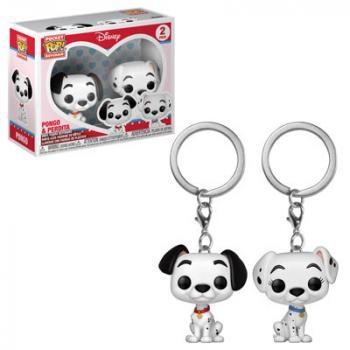 101 Dalmatians Pocket POP! Key Chain - Pongo & Perdita (2-Pack) (Disney)