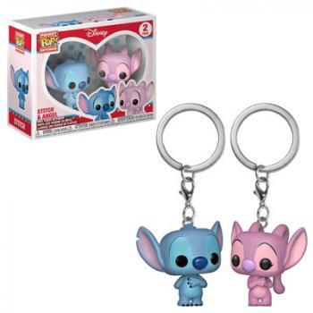 Lilo & Stitch Pocket POP! Key Chain - Stitch & Angel (2-Pack) (Disney)