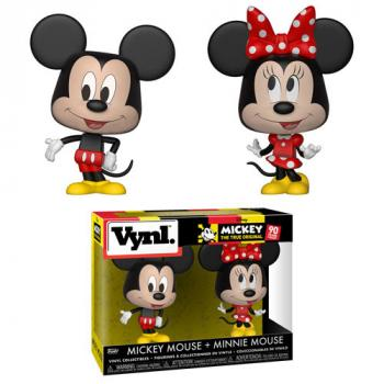 Mickey Mousse  Vynl. Figure - Mickey & Minnie Mouse (2-Pack) (Disney)
