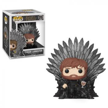 Game of Thrones POP! Deluxe Vinyl Figure -  Tyrion Lannister Sitting on Iron Throne