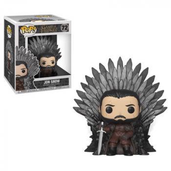 Game of Thrones POP! Deluxe Vinyl Figure - Jon Snow Sitting on Iron Throne