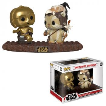 Star Wars POP! Vinyl Figure - C3-PO & Ewok Movie Moment