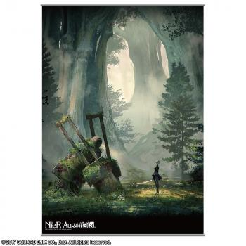 NieR Automata Wall Scroll - 2B & Goliath Machine Lifeform Forest