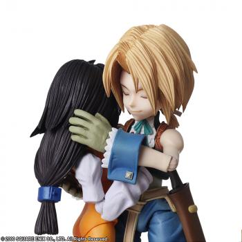 Final Fantasy IX Bring Arts Action Figure - Zidane Tribal & Garnet Til Alexandros 17th