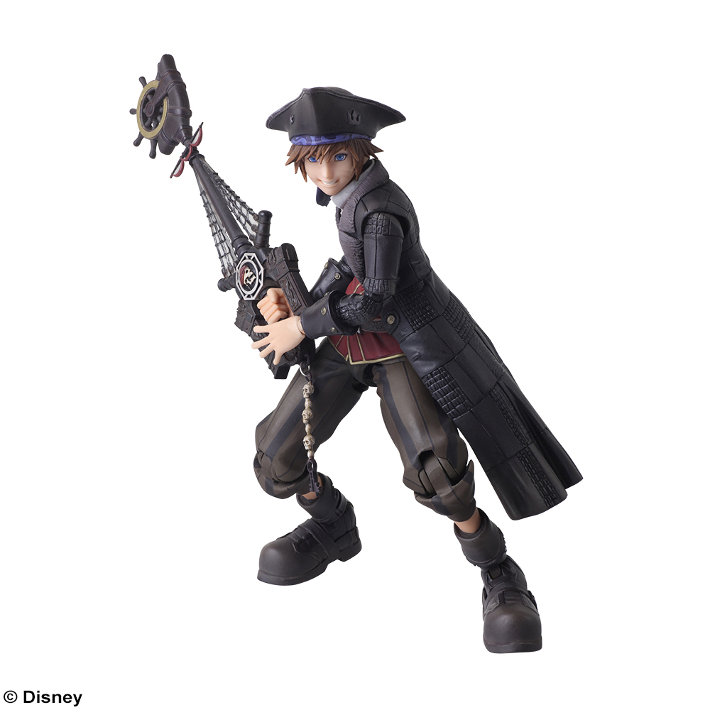 Nightmare Before Christmas Sora.Kingdom Hearts 3 Bring Arts Action Figure Pirate Sora