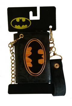 Batman Wallet - Gold Emblem Metal w/ Chain