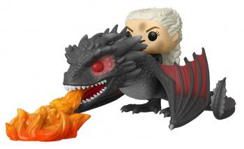 Game of Thrones POP! Rides Vinyl Figure - Daenerys & Drogon Dracarys (Dragonfire)