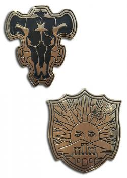 Black Clover Pins - Black Bull & Golden Dawn (Set of 2)