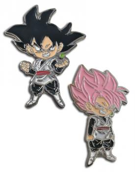 Dragon Ball Super Pins - Chibi Goku Black & SSR Goku Black