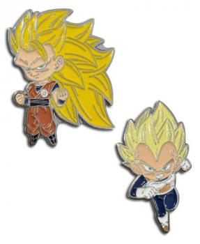 Dragon Ball Super Pins - Chibi SS3 Goku & SS Vegeta