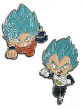 Dragon Ball Super Pins - Chibi SSB Goku & SSB Vegeta