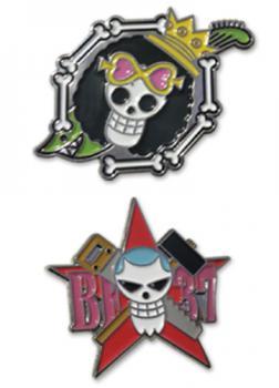 One Piece Pins - Skulls Brooke & Franky (Set of 2)