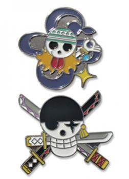 One Piece Pins - Skulls Nami & Zoro (Set of 2)