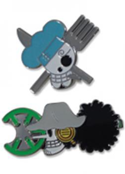 One Piece Pins - Skulls Sanji & Usopp (Set of 2)