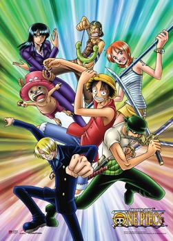 One Piece Wall Scroll - Straw Hats Color Burst
