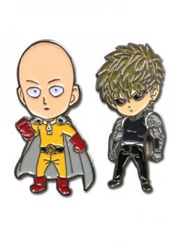 One-Punch Man Pins - SD Saitama & Genos (Set of 2)